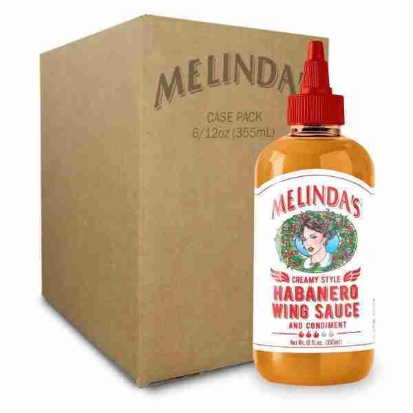 Melinda's Creamy Style Habanero Wing Sauce (6 pk Case)