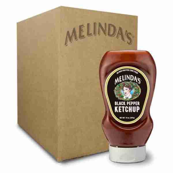 Melinda's Black Pepper Ketchup (Squeeze 6 pk Case)