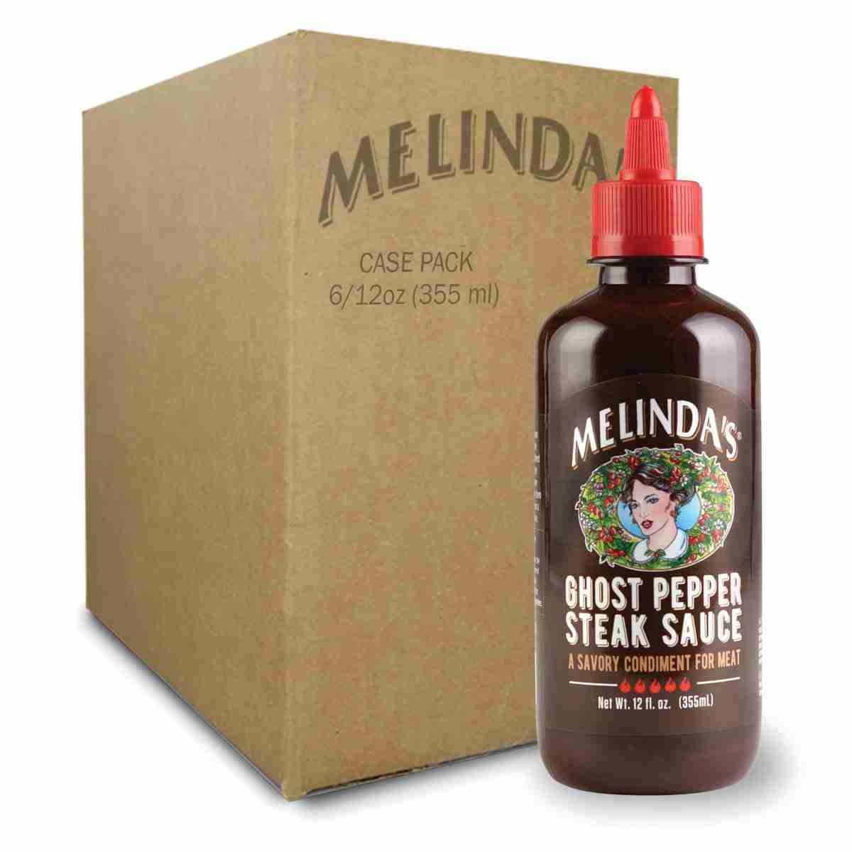 Melinda S Ghost Pepper Steak Sauce Case Melinda S Pepper Sauces
