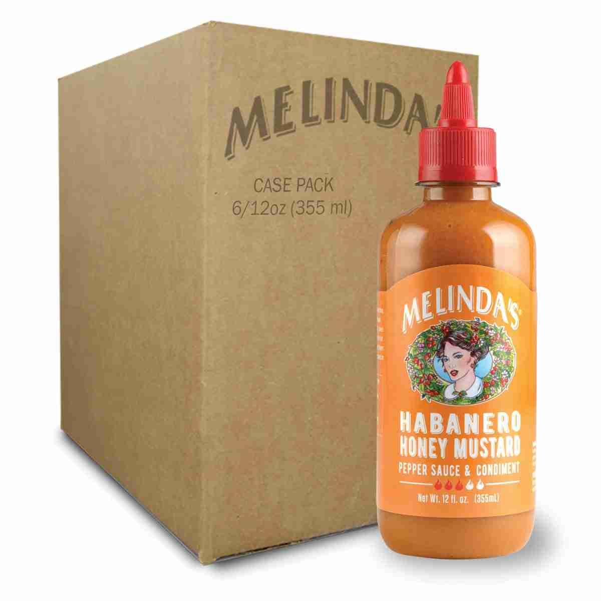 Melinda's Hot Habanero Honey Mustard Pepper Sauce (Case)