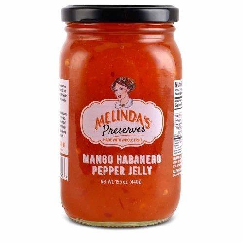 Melinda's Whole Fruit Preserves Mango Habanero Pepper Jelly (6pk Case)